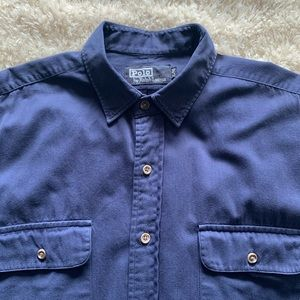 Polo Ralph Lauren Men Shirt Size XL Cotton Blue